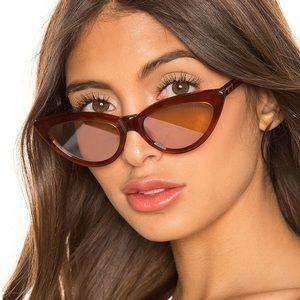 Revolve mymymy Rumy Terracotta & Peach Sunglasses